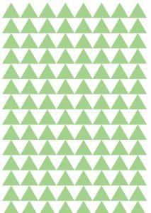 gröna och svarta trianglar