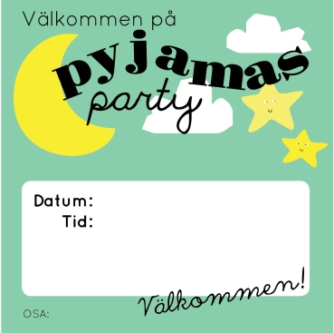 kalasinbjudan_pyjamasparty_grön1