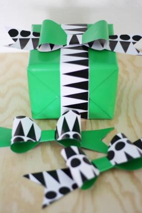 Pappersrosett_grön