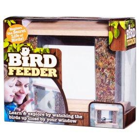 *** Local Caption *** , med genomskinliga behållare. Fäst fågelbordet med sugproppar på fönsterrutan så kan ni i lugn och ro sitta och titta på fåglarna när de kommer för att äta. Sugproppar medföljer. Mått 9x24 cm, höjd 20 cm.